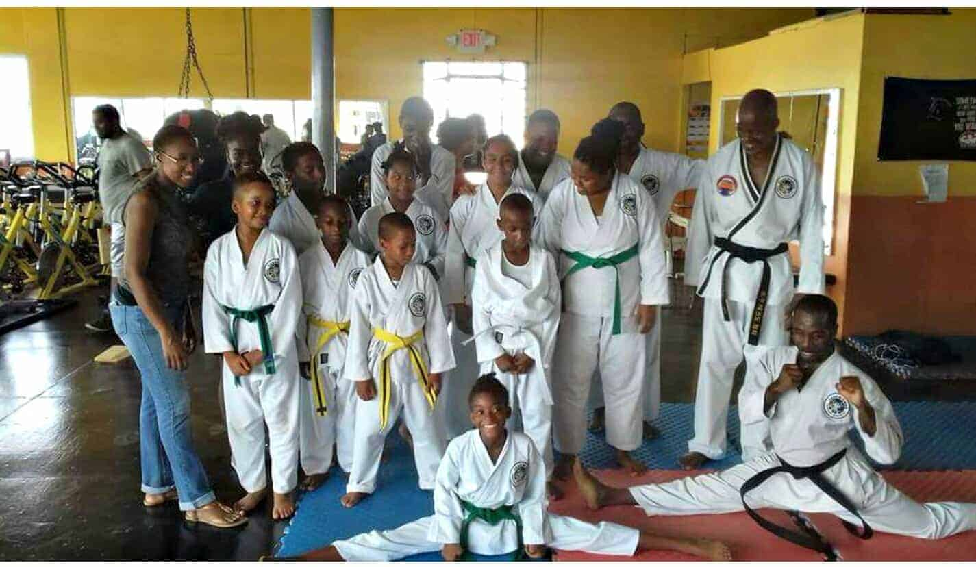 Newly Promoted Black Belt Student @ Sidekicks Jamaica