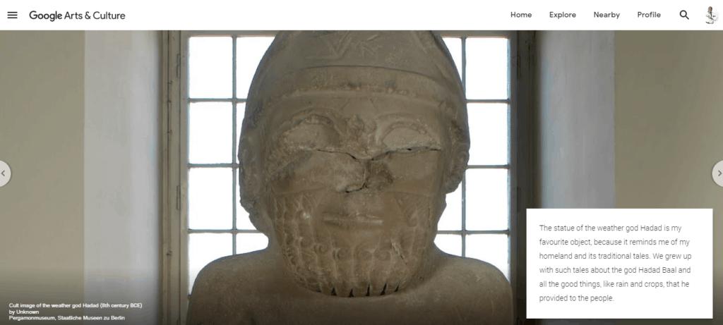 Hadad statue