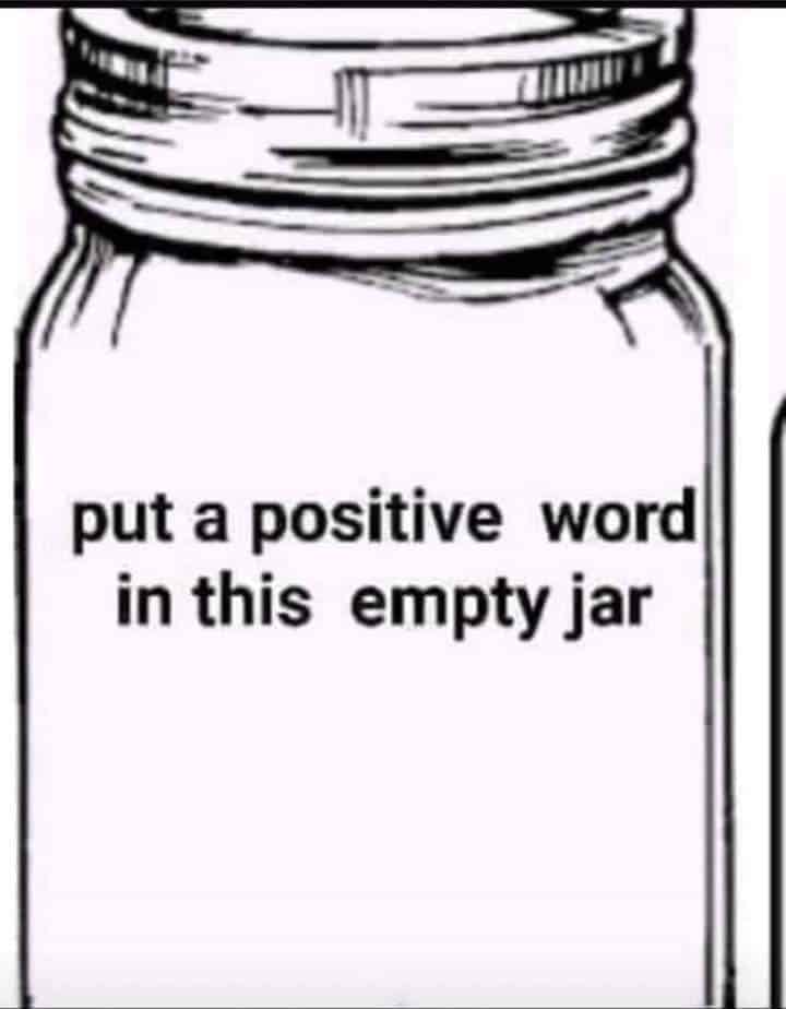 Positive Words Jar