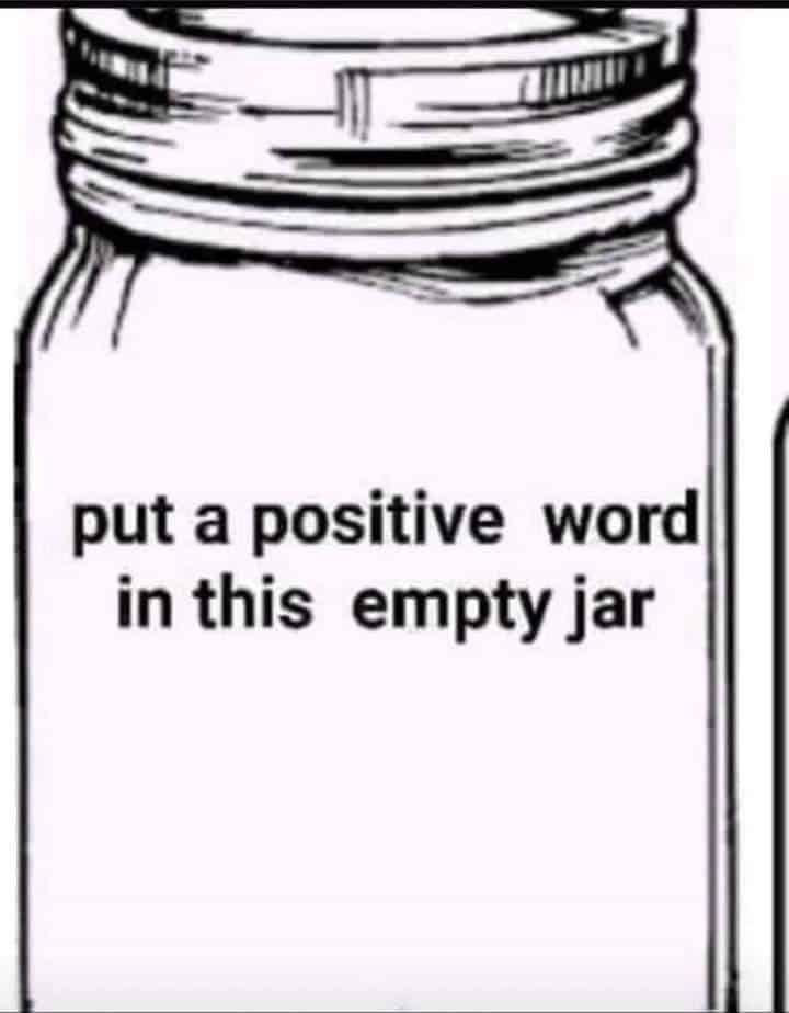 positive words jar