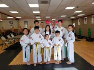 Taekwondo Students with Discipline